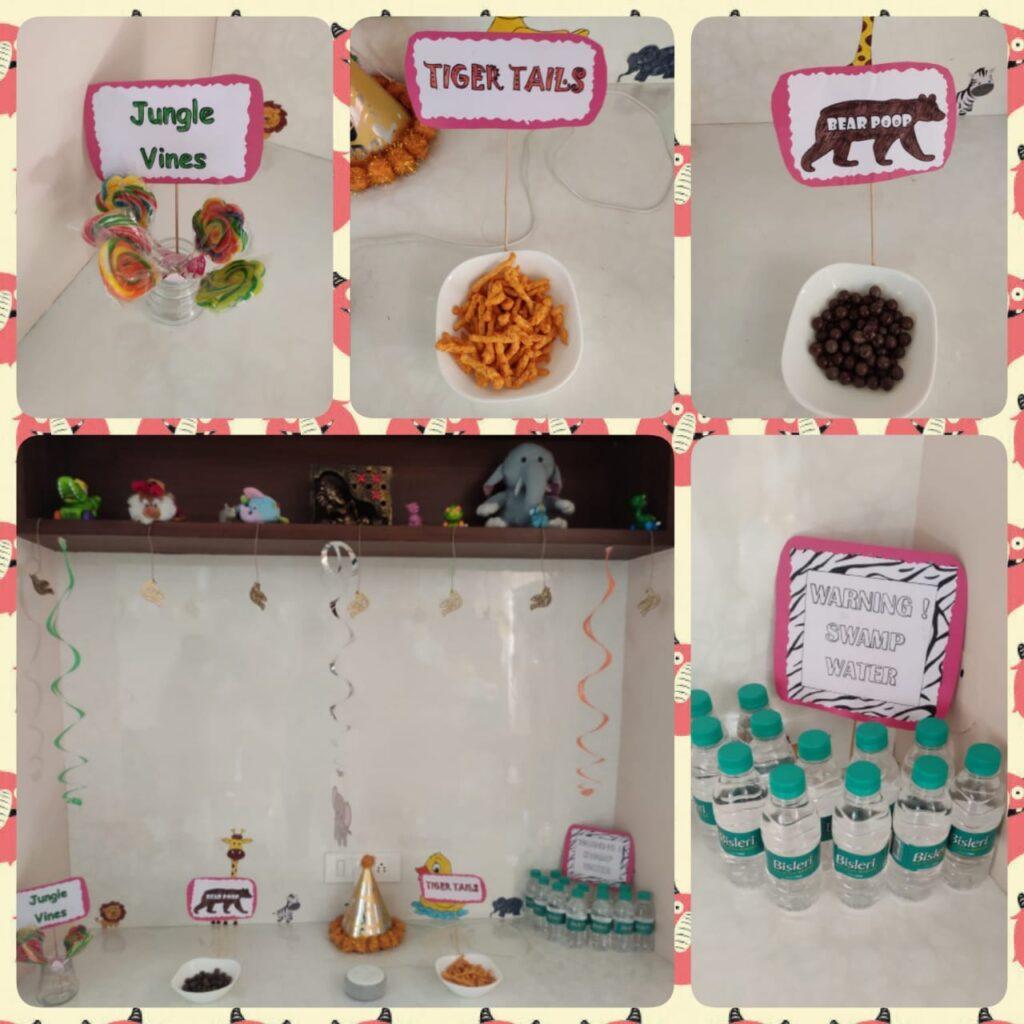 snacks kids corner jungle theme